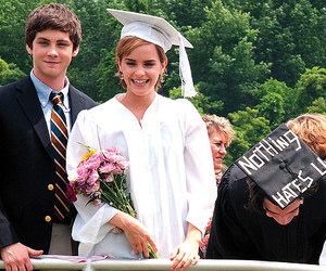 emma watson, logan lerman, and movie image