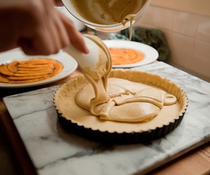 pie, baking, and food image
