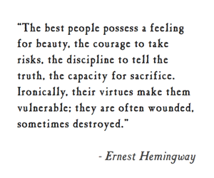 ernest hemingway and quotes image