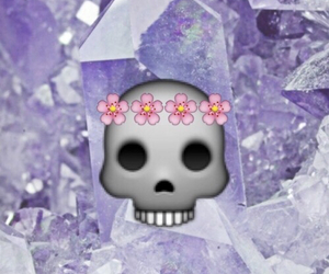 flowers, crystals, and grunge image