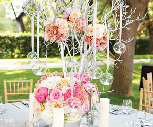centerpiece, floral, and ideas image
