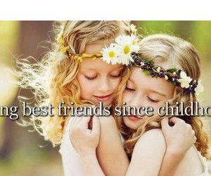 bff, childhood, and friendship image