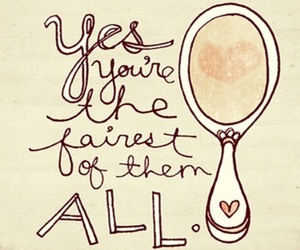 mirror, quote, and text image