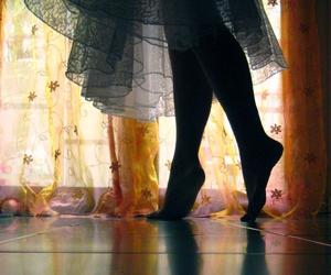 feet, dance, and window image
