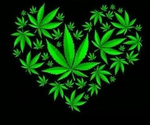 green, heart, and hippies image