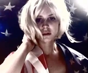 blonde, flag, and photography image