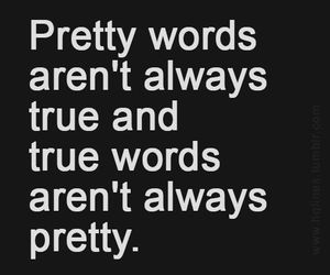 true, words, and quotes image