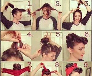 diy, hairstyle, and pinup image