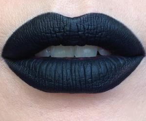 black, lips, and girl image