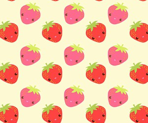 strawberry, background, and cute image