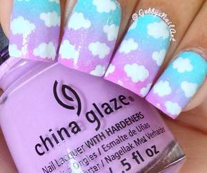 nails, beautiful, and clouds image
