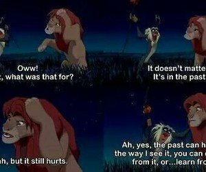 lion king, past, and quotes image