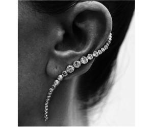 diamonds, earings, and fashion image