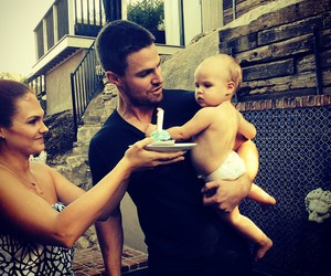 arrow, baby, and stephen amell image