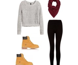 timberland, fall, and leggings image