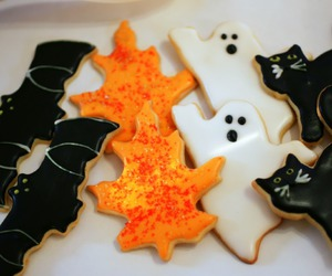 fall, Halloween, and Cookies image