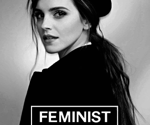 feminist, emma watson, and black and white image
