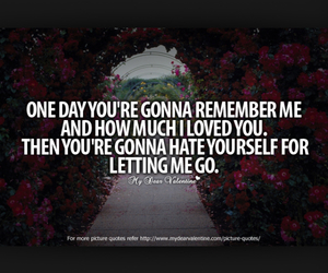 i loved you, letting go, and quotes image