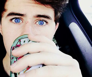 nash grier, blue eyes, and eyes image