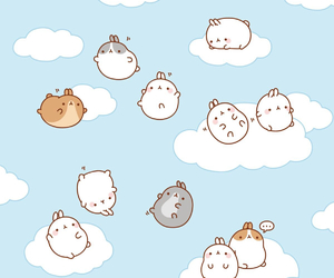 background, cute, and molang image