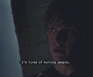 sad, american horror story, and evan peters image