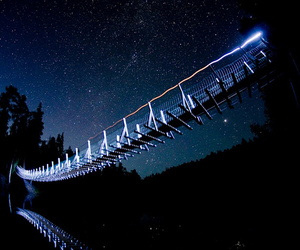 night, bridge, and light image