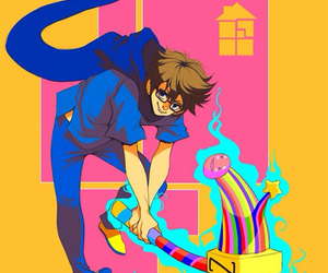 boy, colours, and hammer image