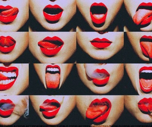 lips, red, and smoke image
