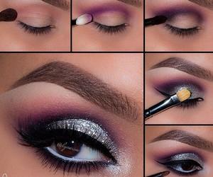 eyes, make up, and purple image