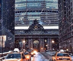 new york and winter image