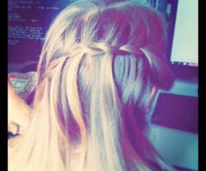 blonde, trança, and hair image