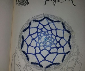 draw, dreamcatcher, and feather image