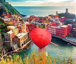 italy, sea, and umbrella image