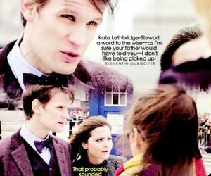 doctor who, matt smith, and kate lethbridge stewart image