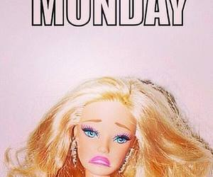 monday, barbie, and sad image