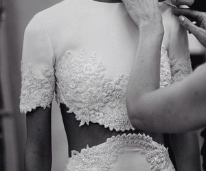 fashion, model, and lace image