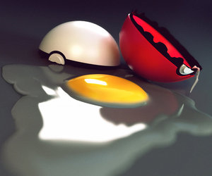 3d, egg, and pokeball image