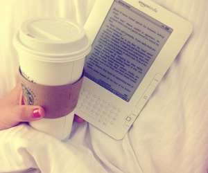 bed, coffee, and starbucks image