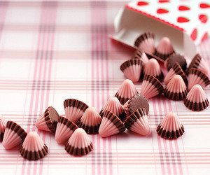 chocolate, pink, and sweet image