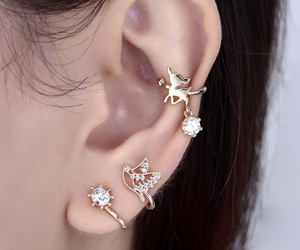 ear cuff, ear cuffs, and bird earring image