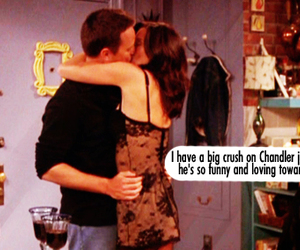 chandler, chandler and monica, and f.r.i.e.n.d.s image