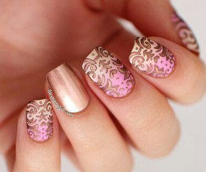 nails, rose, and strips image
