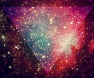 space, pink, and galaxy image