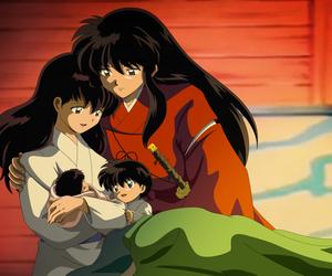 inuyasha, anime, and love image