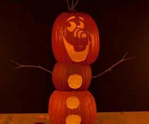 Halloween, olaf, and pumpkin image