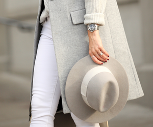 classy, clothes, and white pants image