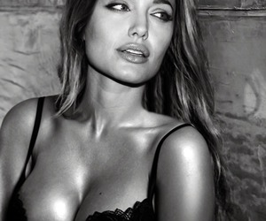 Angelina Jolie, b&w, and sexy image