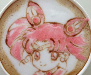 anime, sailor moon, and coffee image