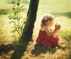apple, child, and freedom image