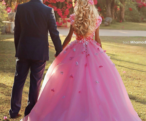 love, pink, and dress image
